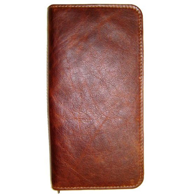 Leather travel wallet V1963