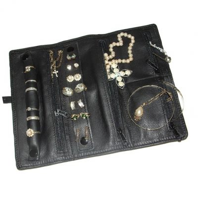 Leather Jewellery Roll V333