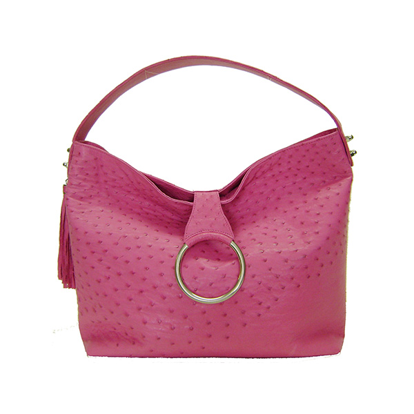Janet Genuine Ostrich Large Hobo Handbag VBO491