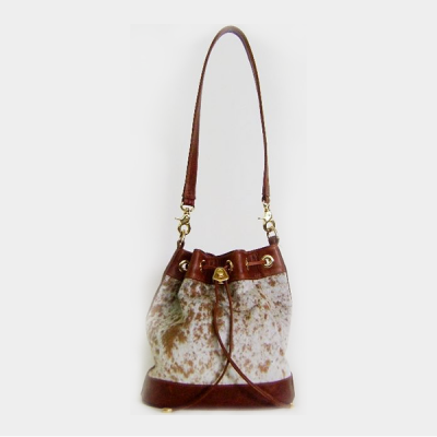 Leather nguni handbag CBN522