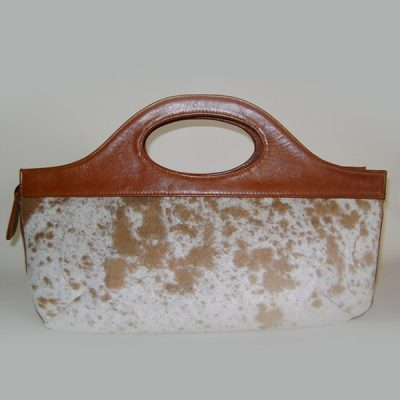 Leather/nguni handbag CBO512 N