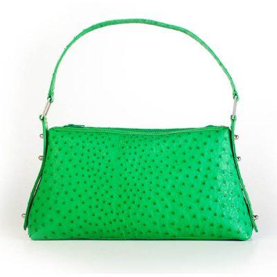Delia Genuine Ostrich Handbag VBO496