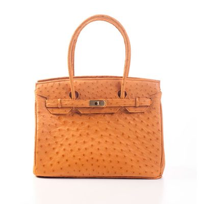 Rose Polodi Genuine Ostrich Handbag CB545