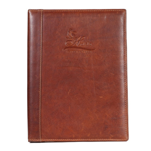 A4 Interscrew Leather Menu Cover V1194