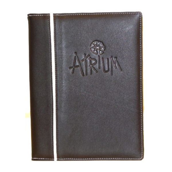 A4 Leather 4 Page Picture Corner Menu Cover V2045