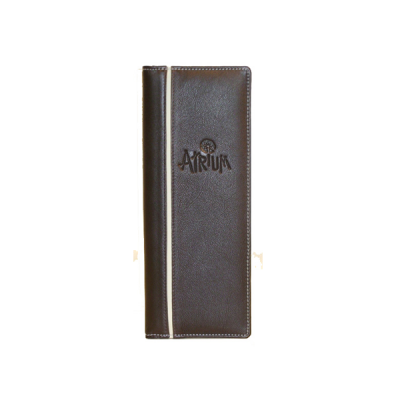 A4 Slimline Leather Menu Cover V2063