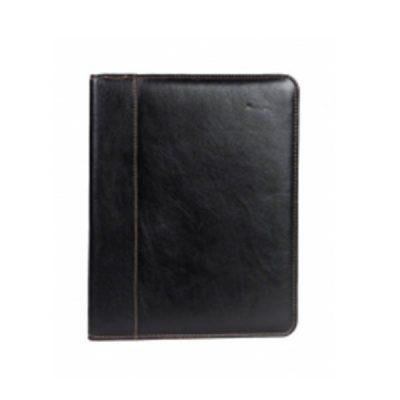 A4 Leather Zip Folder V387
