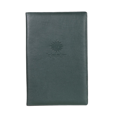 A4 Two Page Leather Menu cover V402