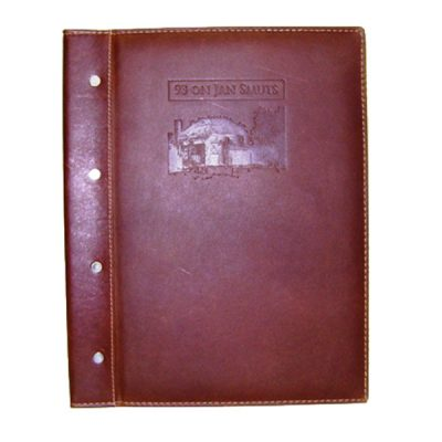 Leather menu cover V662