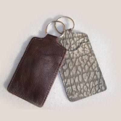 Leather Autocard keyring V956
