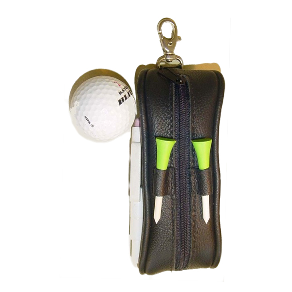 Leather Golf ball bag V980