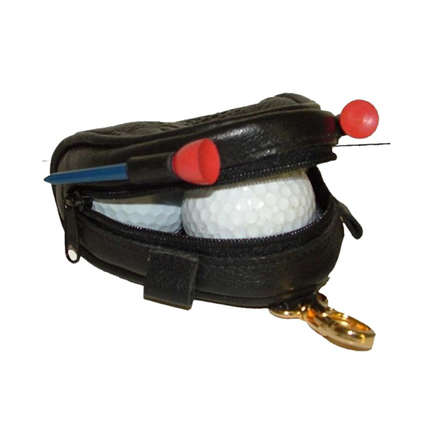 Leather Golf ball bag V981