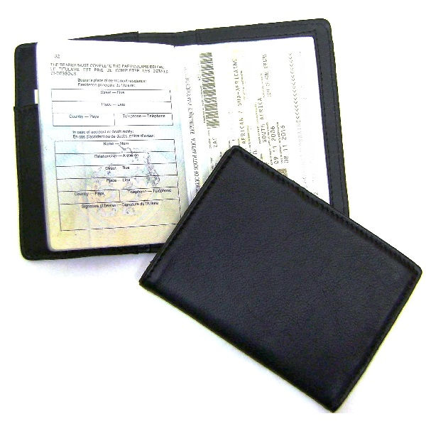 Leather Passport Wallet V2614