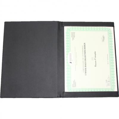 A4 Leather Certificate Folder