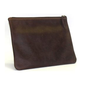 Leather Zip Pouch V2488